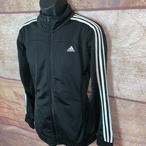 Adidas track jacket men's size xl black